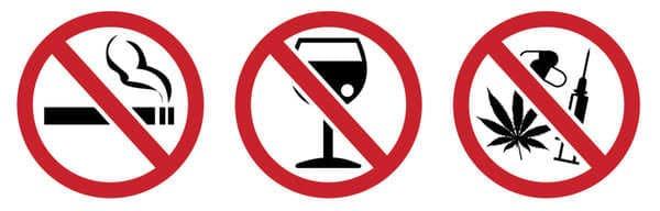 Tuyệt đối không sử dụng hay lạm dụng rượu bia và các chất kích thích