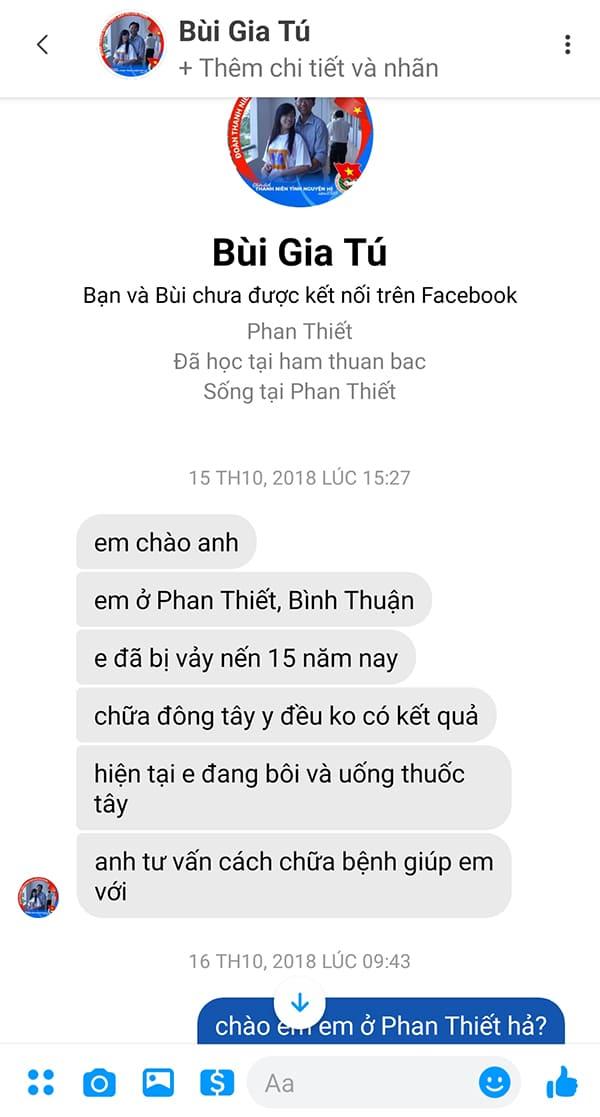 Tin nhắn của bạn Tú khi đến với Luân Thành