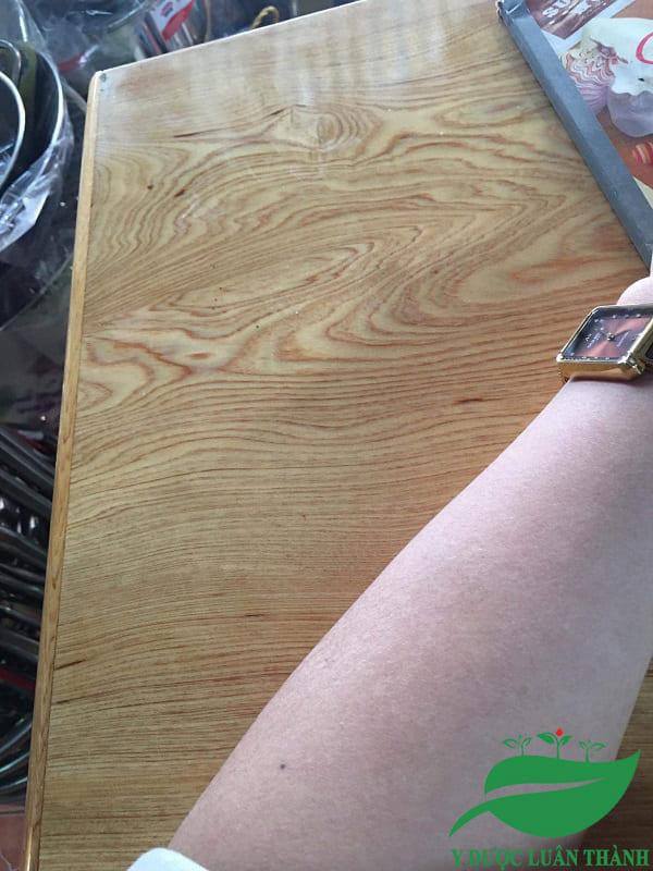Da tay cũng đã trở lại bình thường (có điều nhìn vẫn hơi khô, chưa được mịn lắm)