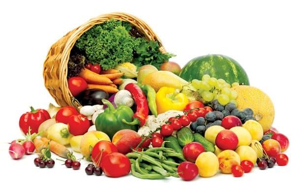 Bổ sung nhiều rau và trái cây cho cơ thể