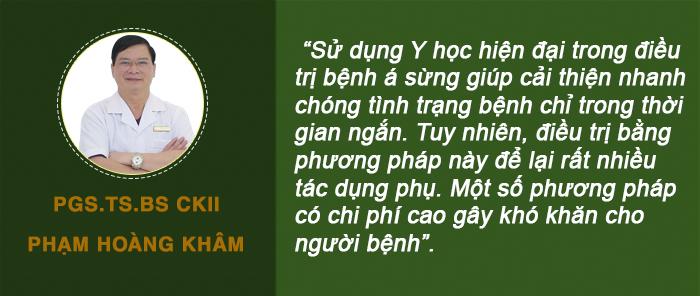 PGS. TS. BS CKII Phạm Hoàng Khâm chia sẻ về phương pháp điều trị á sừng bằng y học hiện đại