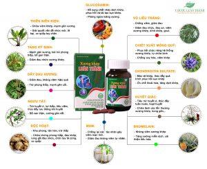 Thành phần dược liệu có trong sản phẩm viên uống Xương khớp Luân Thành